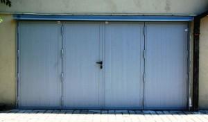 Portone blindato per garage a 4 ante