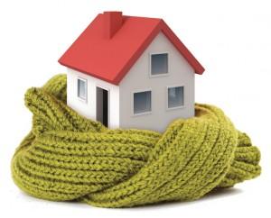 Casa avvolta da una sciarpa verde