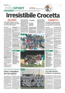 Gazzetta di Parma su Crocetta Baseball