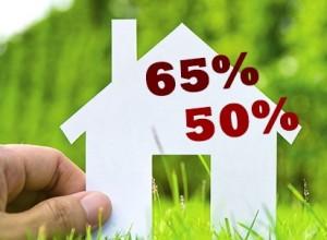 Casetta con 50% e 65%