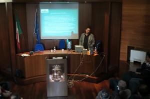 Marco Ferrarini durante il focus con la Polizia di Stato