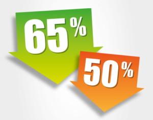 "Cartelli ""65%"" e ""50%"""